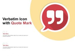 Verbatim Icon With Quote Mark