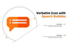 Verbatim Icon With Speech Bubbles