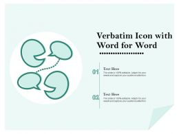 Verbatim Icon With Word For Word