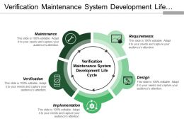 Verification Maintenance System Development Life Cycle With Downward Arrows And Boxes