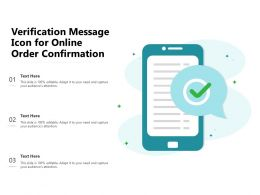 Verification Message Icon For Online Order Confirmation