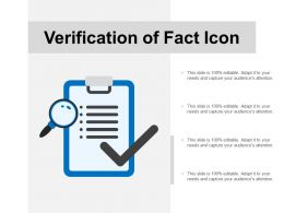 Verification Of Fact Icon
