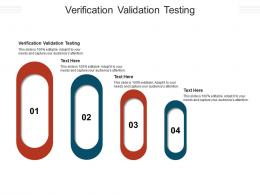 Verification Validation Testing Ppt Powerpoint Presentation Gallery Inspiration Cpb