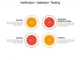 Verification Validation Testing Ppt Powerpoint Presentation Slides Infographics Cpb