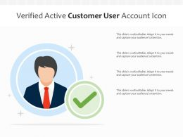 Verified Active Customer User Account Icon