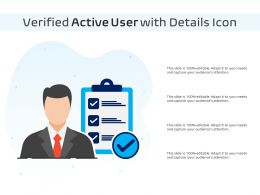 Verified Active User With Details Icon