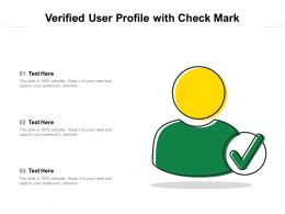 Verified User Profile With Check Mark