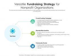 Versatile Fundraising Strategy For Nonprofit Organizations