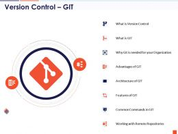 Version Control Git Common Commands Remote Repositories Ppt Slides