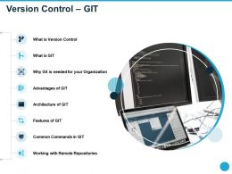 Version Control Git Linear Workflows Ppt Powerpoint Presentation Topics