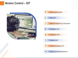 Version Control Git Remote Repositories Ppt Powerpoint Presentation Ideas