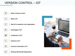 Version Control Git Repositories Ppt Powerpoint Presentation Inspiration