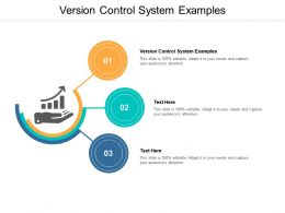 Version Control System Examples Ppt Powerpoint Presentation Show Portfolio Cpb
