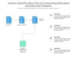 Version Identification Cloud Computing Standard Architecture Patterns Ppt Powerpoint Slide