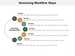 Versioning Workflow Steps Ppt Powerpoint Presentation Styles Format Ideas Cpb