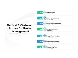 Vertical 7 Circle With Arrows For Project Management
