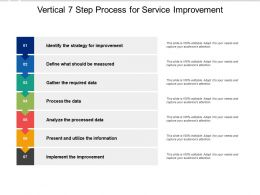 Vertical 7 Step Process For Service Improvement