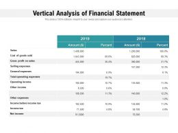 Vertical Analysis Of Financial Statement