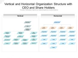 Vertical And Horizontal Organization Structure With CEO And Share Holders