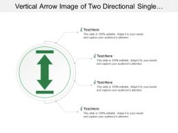 Vertical Arrow Image Of Two Directional Single Arrow In Circle