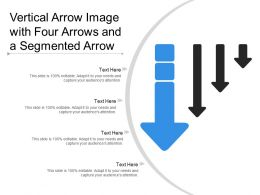 Vertical Arrow Image With Four Arrows And A Segmented Arrow