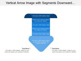 Vertical Arrow Image With Segments Downward Arrow Head