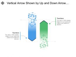 Vertical Arrow Shown By Up And Down Arrow Image