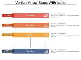 Vertical Arrow Steps With Icons