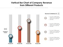 Vertical Bar Chart Of Company Revenue From Different Products