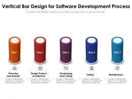 Vertical Bar Design For Software Development Process
