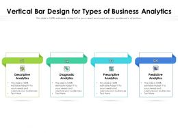 Vertical Bar Design For Types Of Business Analytics