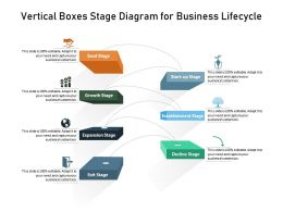 Vertical Boxes Stage Diagram For Business Lifecycle