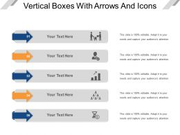 Vertical Boxes With Arrows And Icons