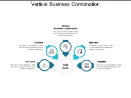 Vertical Business Combination Ppt Powerpoint Presentation Visual Aids Icon Cpb