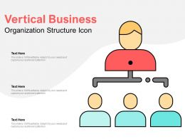 Vertical Business Organization Structure Icon