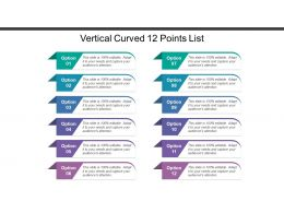 Vertical Curved 12 Points List