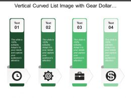 Vertical Curved List Image With Gear Dollar Briefcase And Clock Image