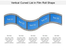 Vertical Curved List In Film Roll Shape