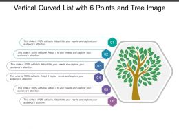 Vertical Curved List With 6 Points And Tree Image