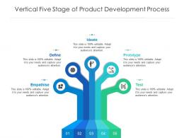 Vertical Five Stage Of Product Development Process