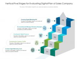 Vertical Five Stages For Evaluating Digital Plan Of Sales Company