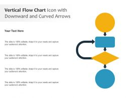 Vertical Flow Chart Icon With Downward And Curved Arrows