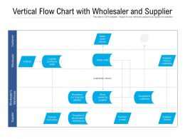 Vertical Flow Chart With Wholesaler And Supplier