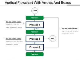 Vertical Flowchart With Arrows And Boxes
