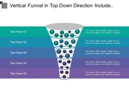 Vertical Funnel In Top Down Direction Include Different Project Steps