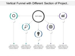 Vertical Funnel With Different Section Of Project Process