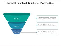Vertical Funnel With Number Of Process Step