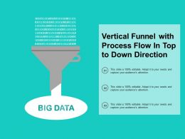 Vertical Funnel With Process Flow In Top To Down Direction