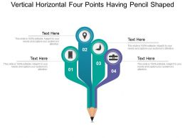 Vertical Horizontal Four Points Having Pencil Shaped