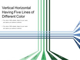 Vertical Horizontal Having Five Lines Of Different Color